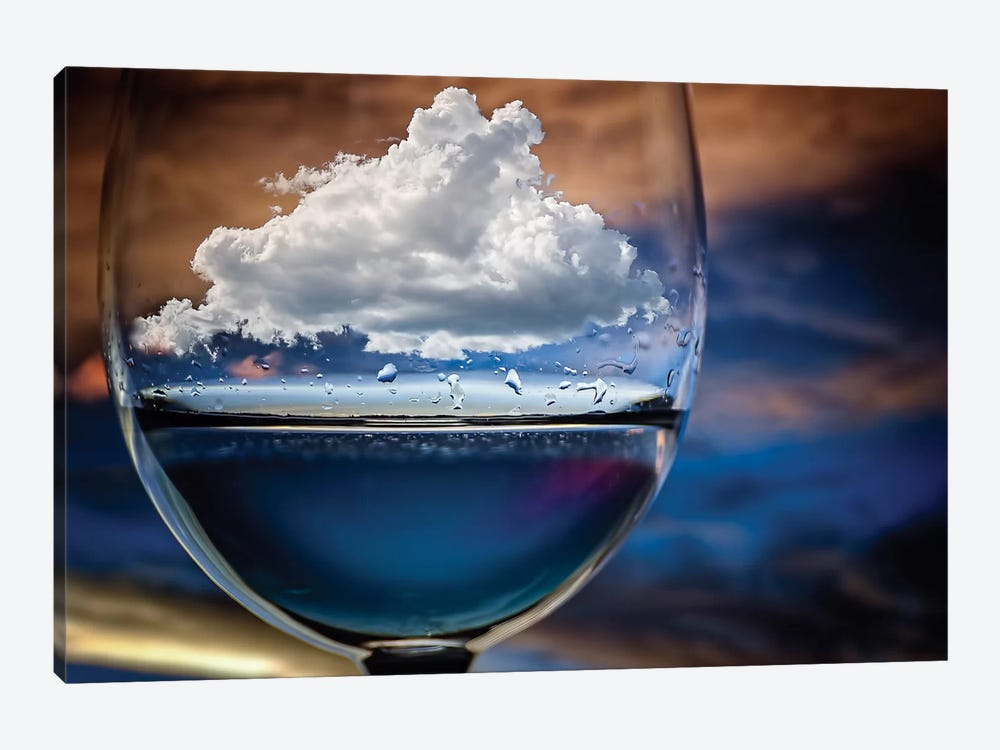 Cloud In A Glass by Chechi Peinado 1-piece Art Print