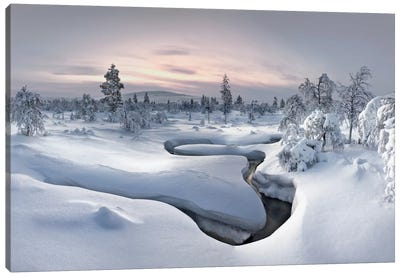 Kiilopää Fell Center, Lapland, Finland Canvas Art Print