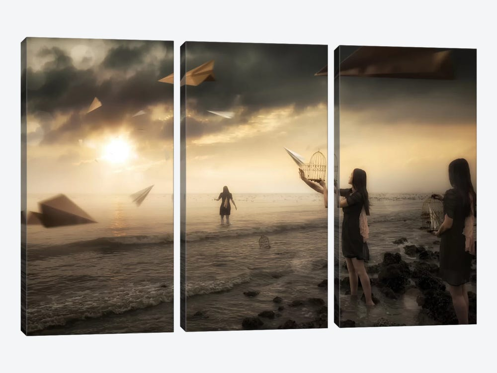 Released by Christophe Kiciak 3-piece Canvas Art