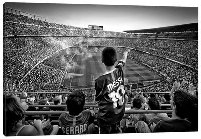 Cathedral Of Football Canvas Art Print