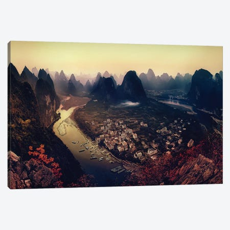 Karst Mountains, Guangxi Zhuang Autonomous Region, China Canvas Print #OXM1279} by Clemens Geiger Canvas Print