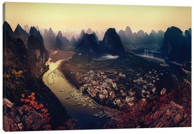 Karst Mountains, Guangxi Zhuang Autonomous Region, China Canvas Art Print