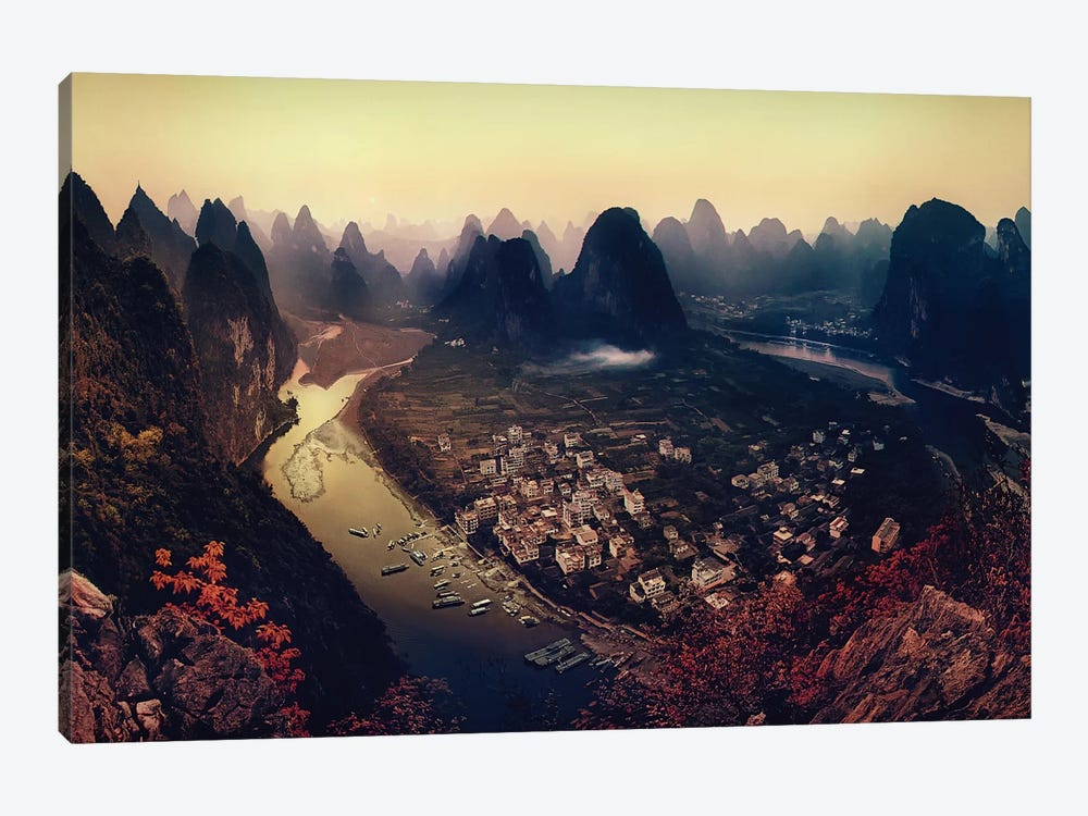 Karst Mountains, Guangxi Zhuang Autonomous Region, China by Clemens Geiger 1-piece Canvas Wall Art