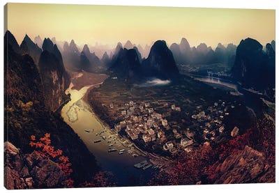 Karst Mountains, Guangxi Zhuang Autonomous Region, China Canvas Art Print