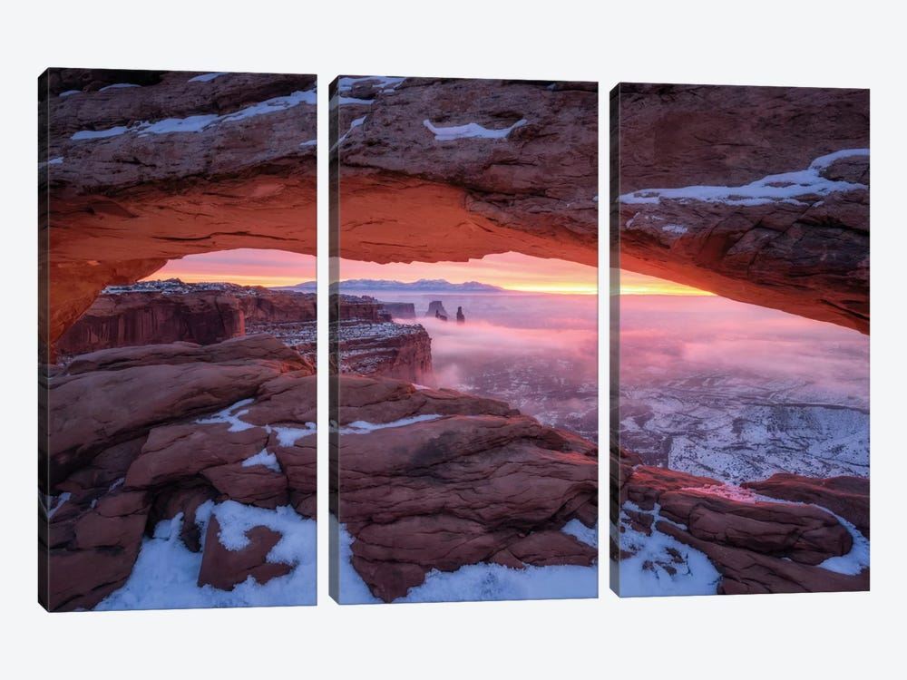 The Moment Right Before Sunrise by Daniel F. 3-piece Canvas Art