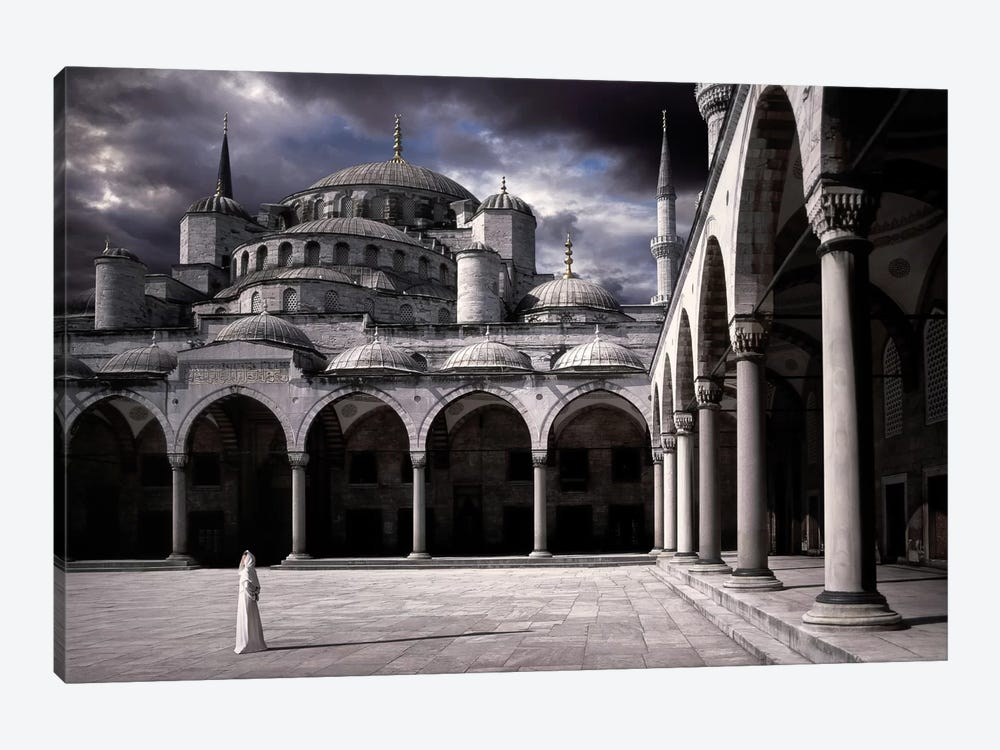 Lady And The Mosque by Daniel Murphy 1-piece Canvas Print