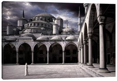 Lady And The Mosque Canvas Art Print