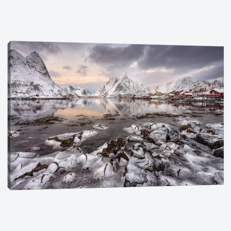 Ice Cracking Canvas Print #OXM1300} by David Martín Castán Art Print