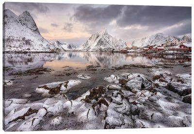Ice Cracking Canvas Art Print