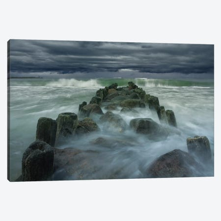 Breakwater Canvas Print #OXM1322} by Dmitry Kulagin Art Print