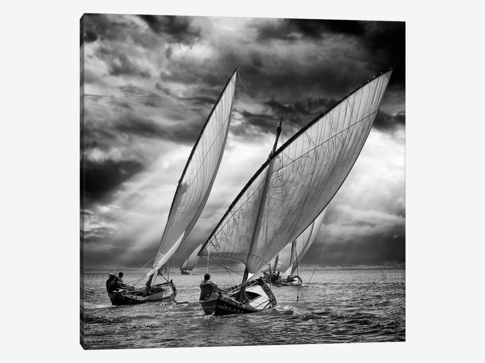 Sailboats And Light by Angel Villalba 1-piece Art Print