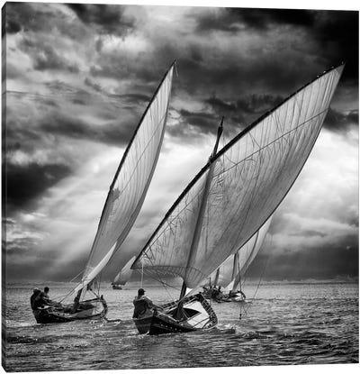 Sailboats And Light Canvas Art Print