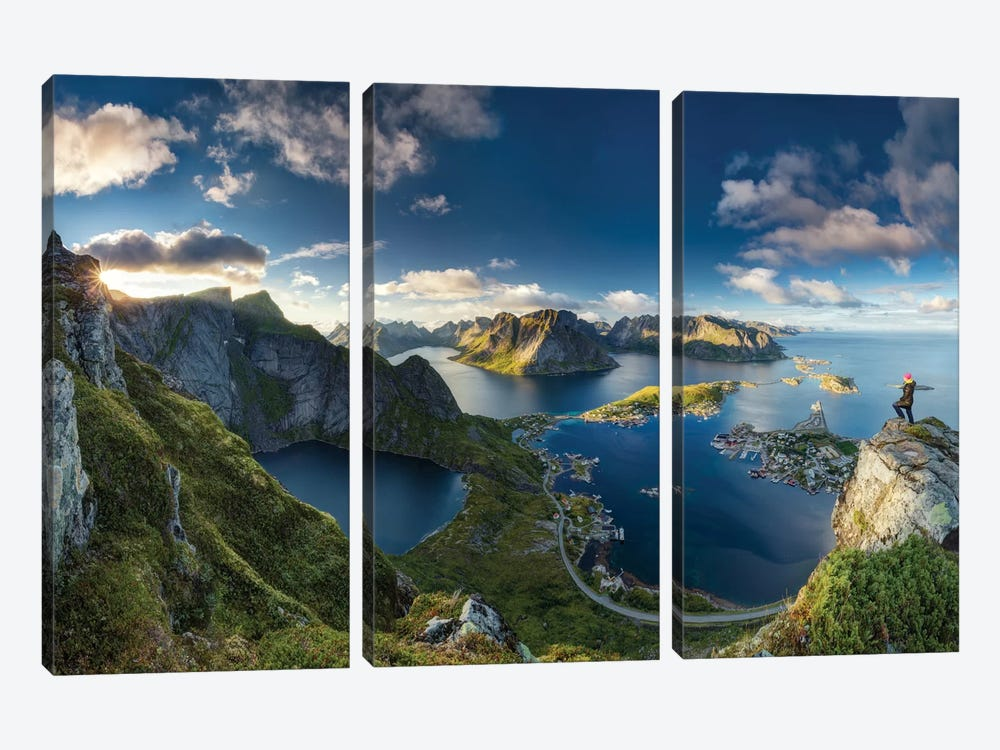 Reinebringen Views by Dr. Nicholas Roemmelt 3-piece Canvas Wall Art