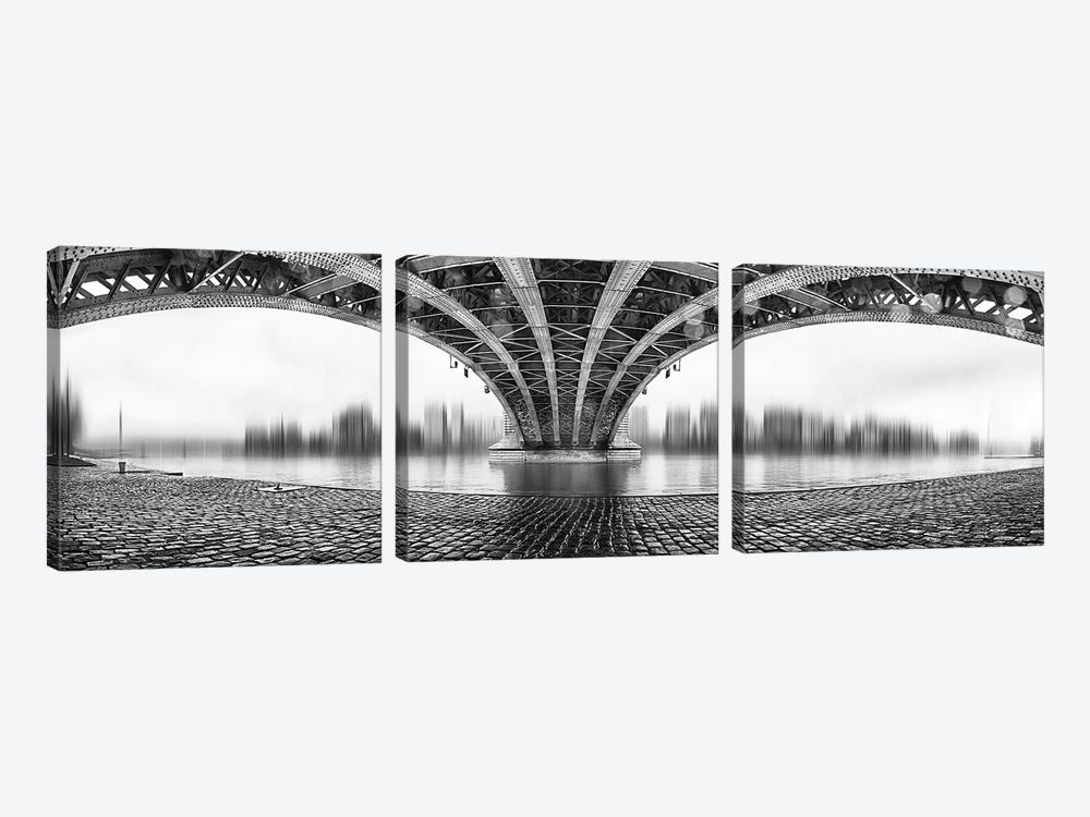 Under The Iron Bridge by Em-Photographies 3-piece Canvas Print
