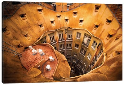 Antoni Gauda's La Pedrera Canvas Art Print