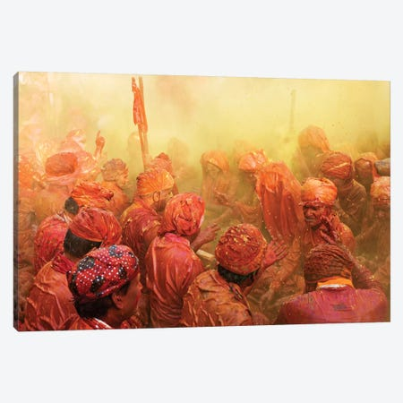 Lathmar Holi Canvas Print #OXM1373} by Francesco Vaninetti Canvas Art
