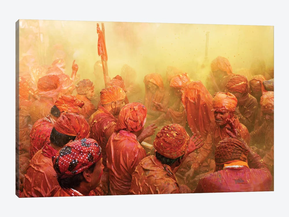 Lathmar Holi by Francesco Vaninetti 1-piece Canvas Art Print