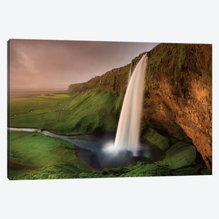 Seljalandsfoss Canvas Print #OXM1383} by Franz Schumacher Canvas Art Print