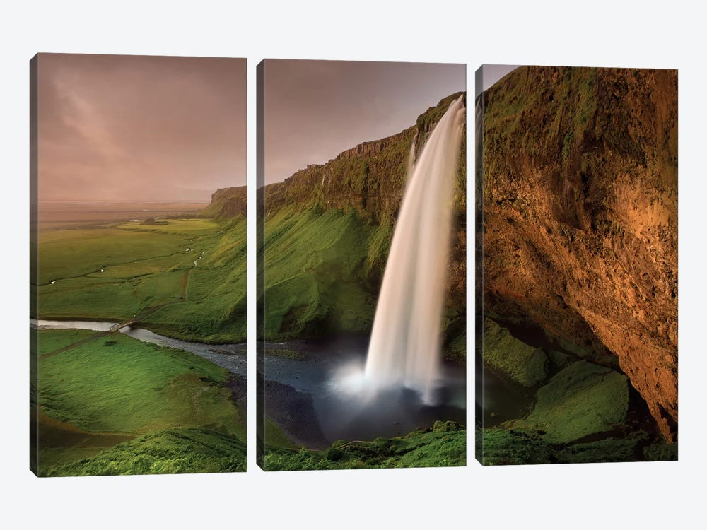 Seljalandsfoss by Franz Schumacher 3-piece Canvas Art