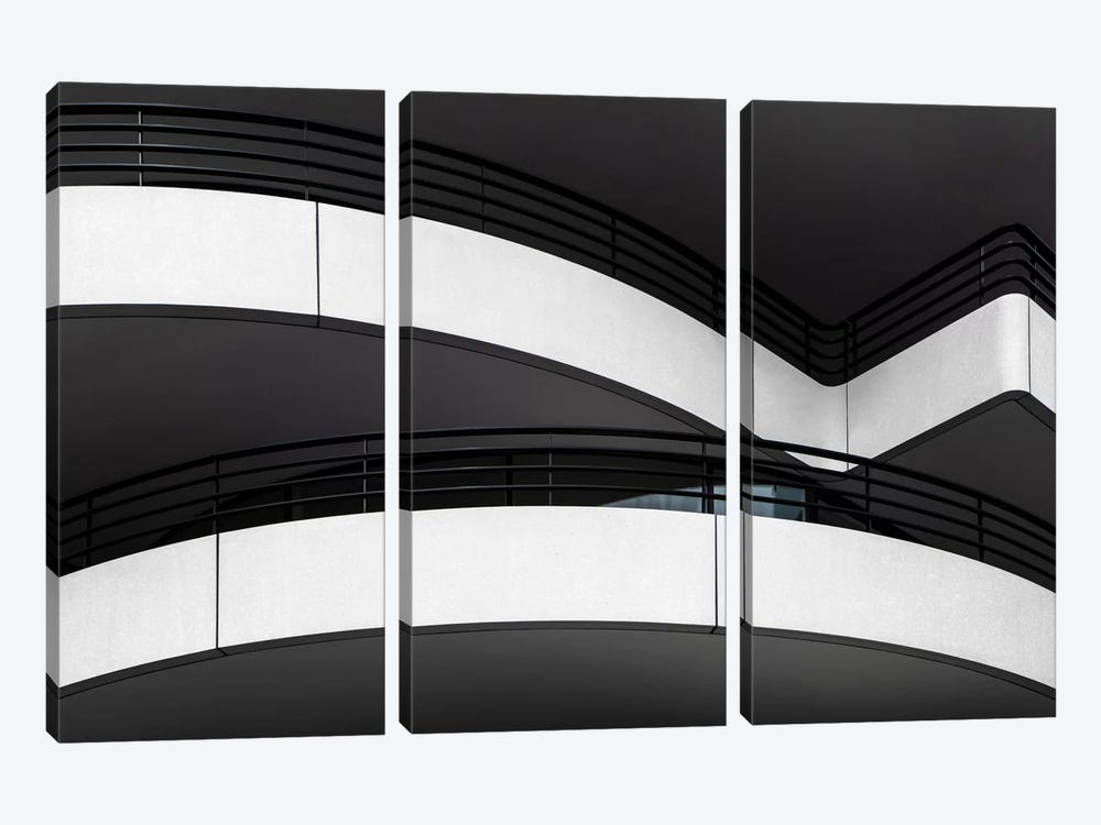 Balcony Lines by Gilbert Claes 3-piece Canvas Art