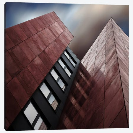Facade Rouge Canvas Print #OXM1414} by Gilbert Claes Canvas Art