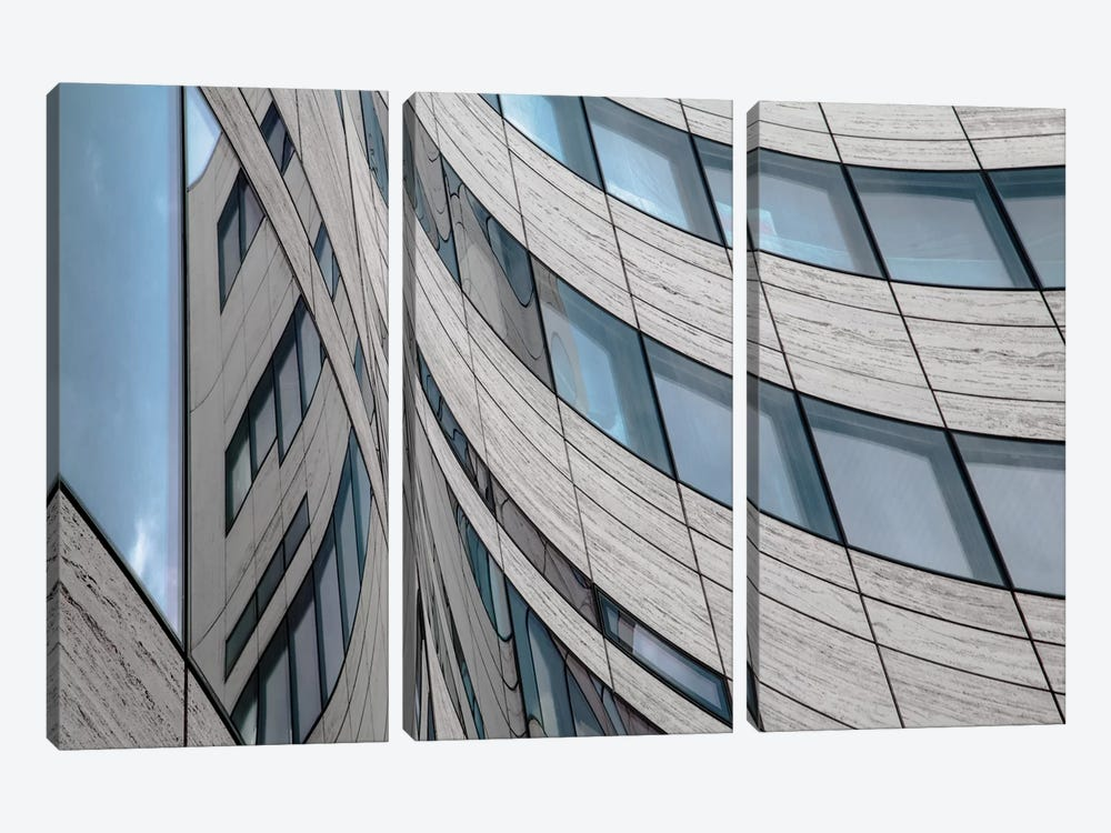 Kö Windows by Gilbert Claes 3-piece Canvas Art Print