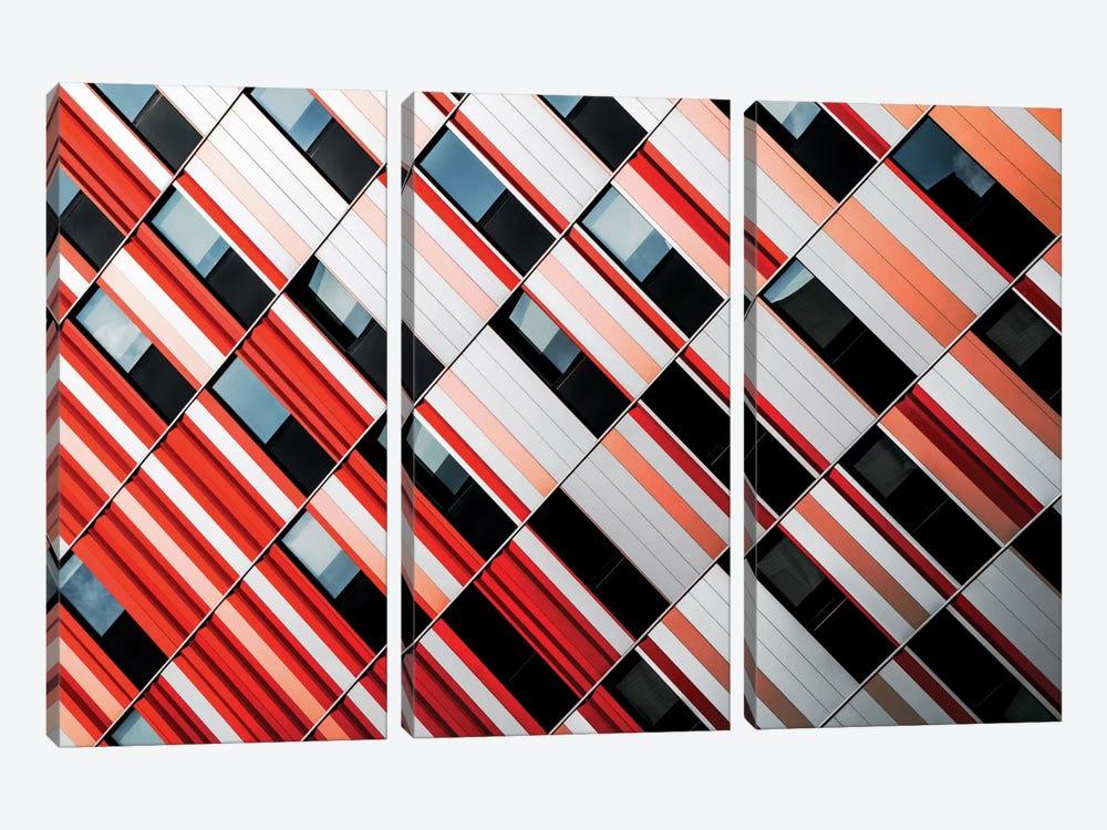 Mo-Za by Gilbert Claes 3-piece Canvas Print