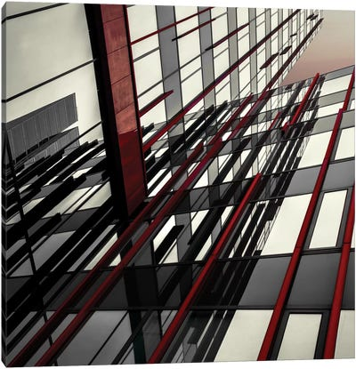 Red Lines Canvas Art Print