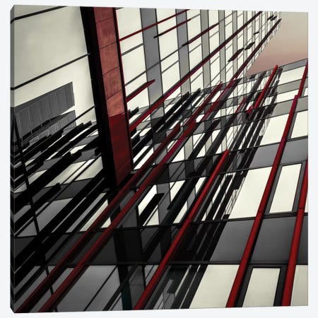 Red Lines Canvas Print #OXM1420} by Gilbert Claes Canvas Artwork