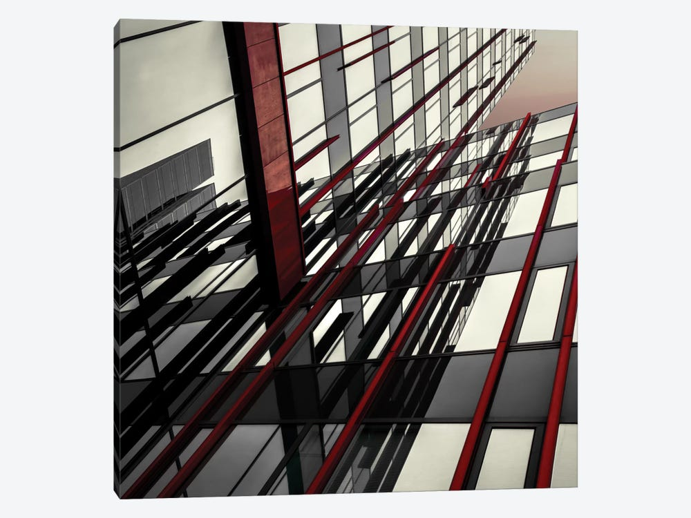 Red Lines by Gilbert Claes 1-piece Canvas Art