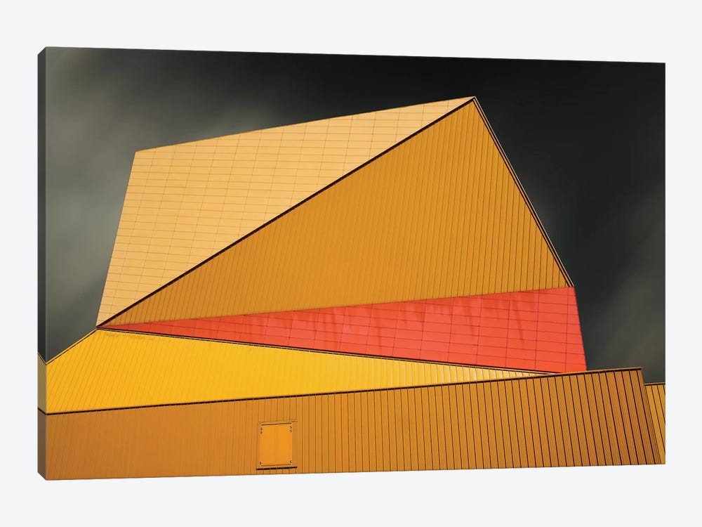 The Yellow Roof by Gilbert Claes 1-piece Canvas Wall Art