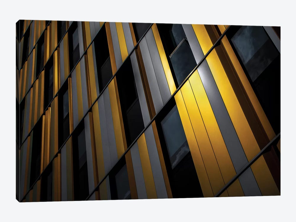 Yellow Wall by Gilbert Claes 1-piece Canvas Artwork