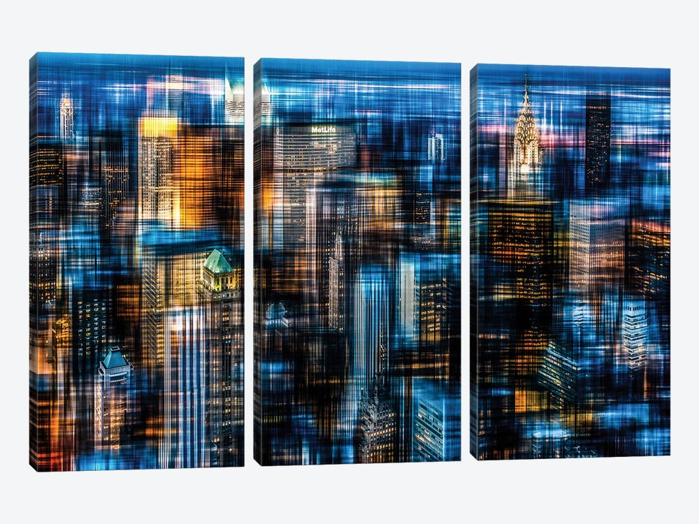 Downtown II.B by Hannes Cmarits 3-piece Canvas Artwork