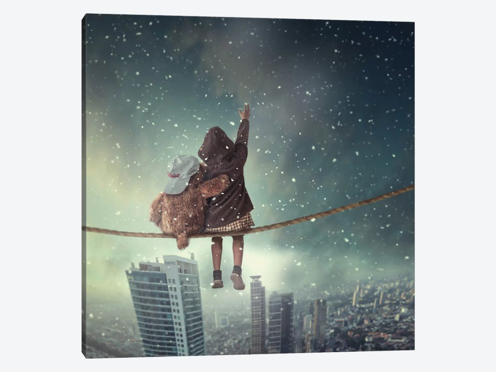 Let It Snow by hardibudi 1-piece Canvas Wall Art