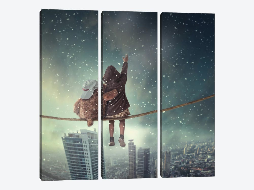 Let It Snow by hardibudi 3-piece Canvas Wall Art
