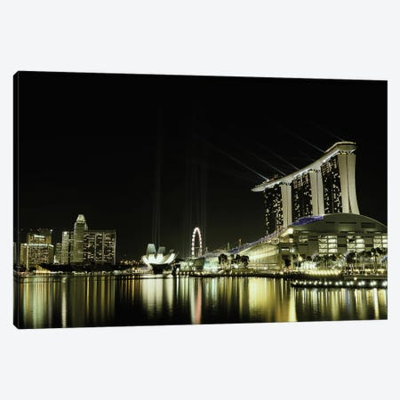 Night In The City Canvas Print #OXM1468} by hardibudi Canvas Art