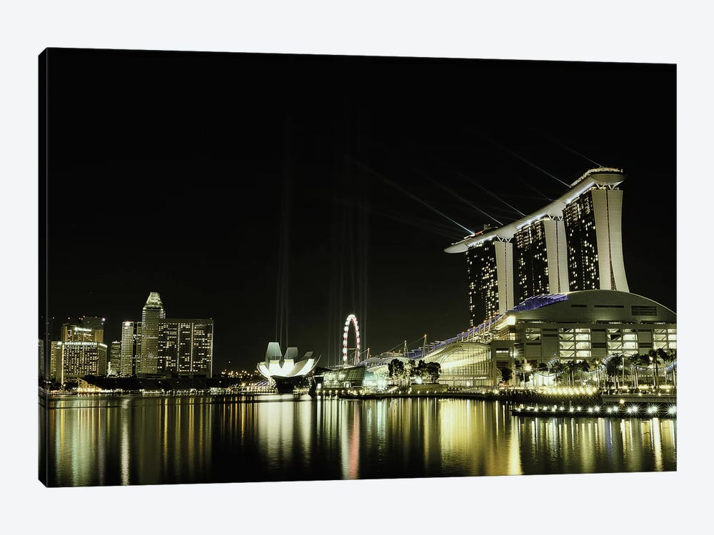 Night In The City 1-piece Canvas Wall Art
