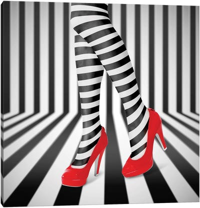 Red Shoes Canvas Art Print