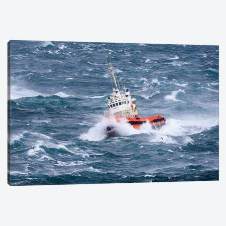 Pilot Boat Canvas Print #OXM1533} by Ingi T. Björnsson Canvas Wall Art