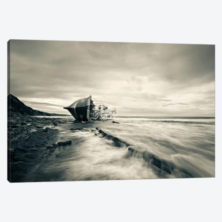 Defeated By The Sea Canvas Print #OXM1534} by Iñigo Barandiaran Canvas Art Print