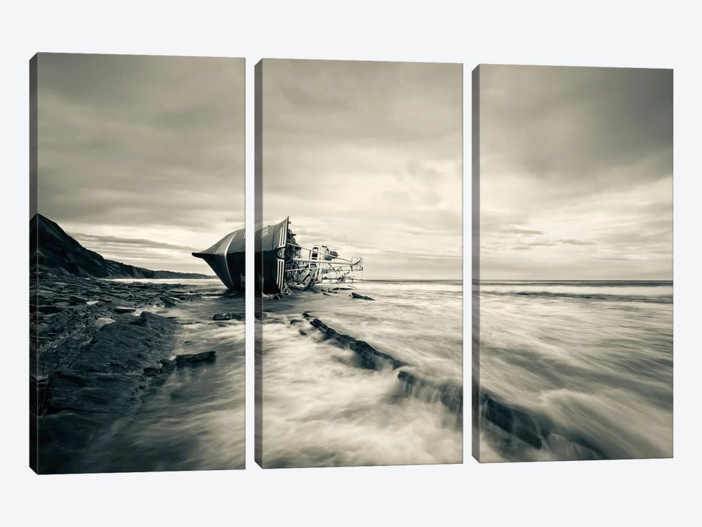 Defeated By The Sea by Iñigo Barandiaran 3-piece Canvas Art