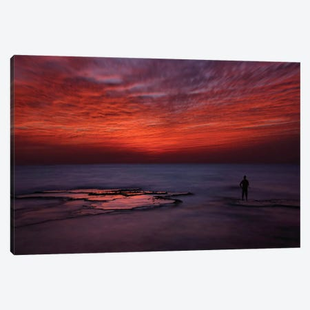 Red Sky Canvas Print #OXM1540} by Itay Gal Canvas Art Print