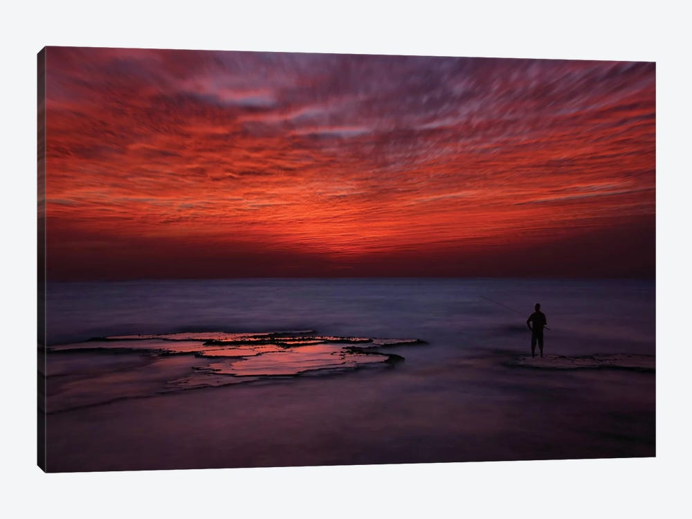 Red Sky 1-piece Canvas Print