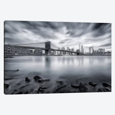 Brooklyn Bridge Canvas Print #OXM1567} by Javier de la Torre Canvas Artwork