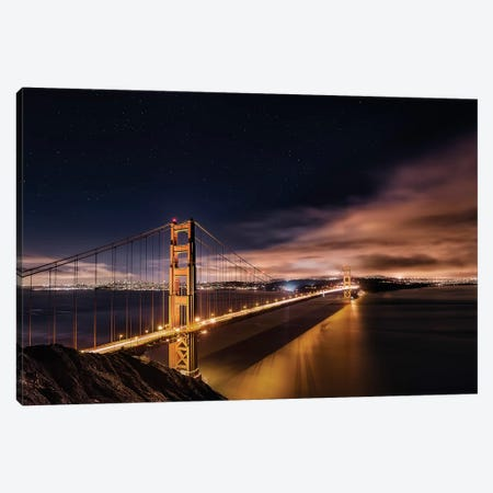 Golden Gate To The Stars Canvas Print #OXM1568} by Javier de la Torre Canvas Print