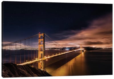 Golden Gate To The Stars Canvas Print #OXM1568