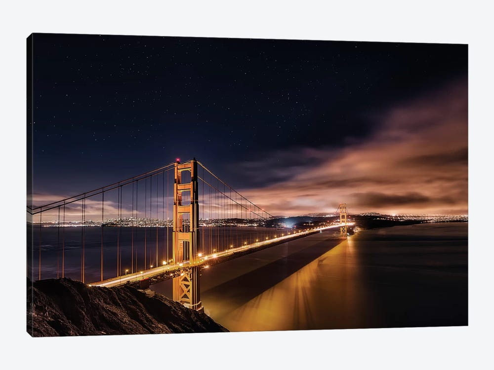 Golden Gate To The Stars by Javier de la Torre 1-piece Art Print