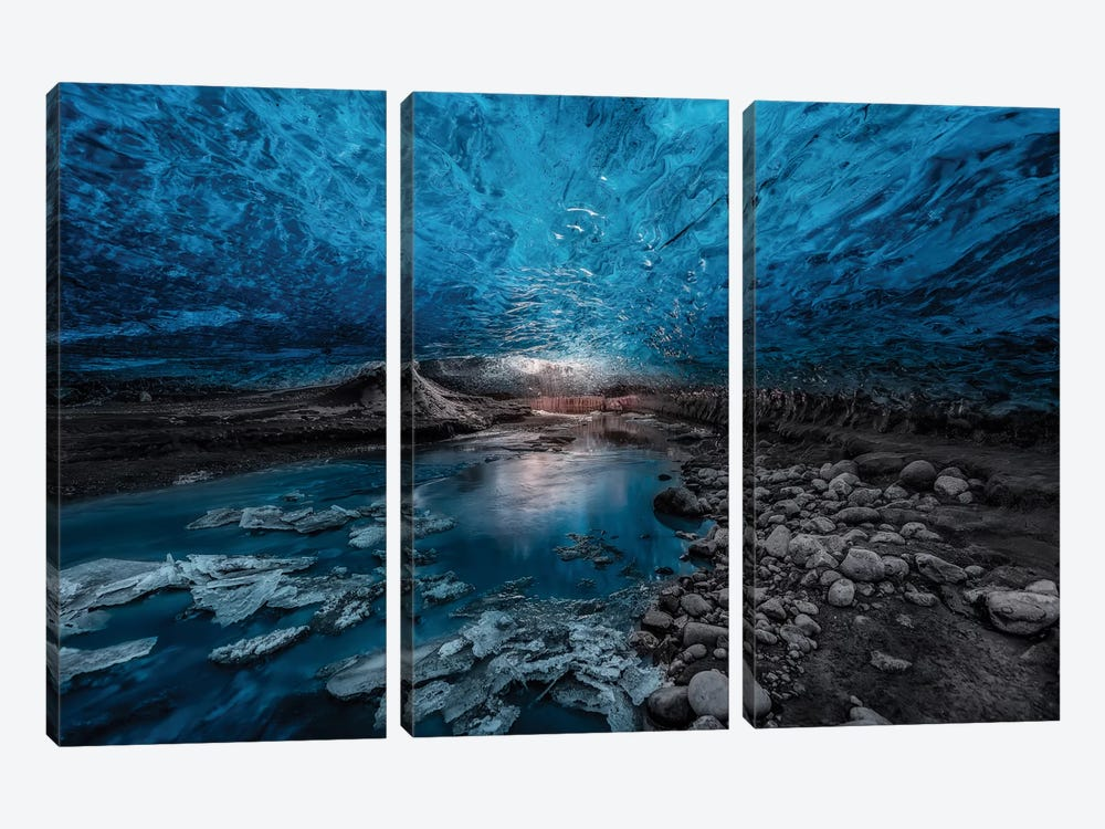 Ice Cave by Javier de la Torre 3-piece Canvas Wall Art