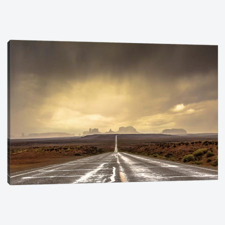 Storm In Monument Valley Canvas Print #OXM1570} by Javier de la Torre Canvas Art