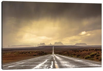 Storm In Monument Valley Canvas Art Print